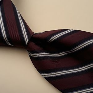 NWT BROOKS BROTHERS Purple Striped Mens Silk Tie